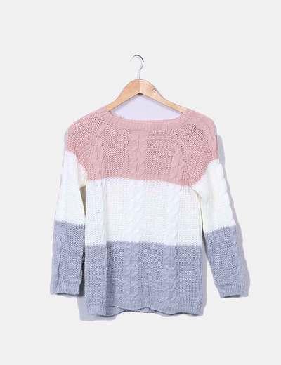 a0d0c5e46e Moda Italia Camisola de malha tricolor (desconto de 41%) - Micolet