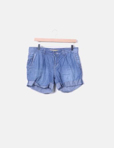 Springfield Pantalón corto denim fluido (descuento 77%) - Micolet 4ddaf231060a
