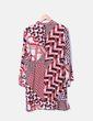 Vestido midi estampado multicolor Zara