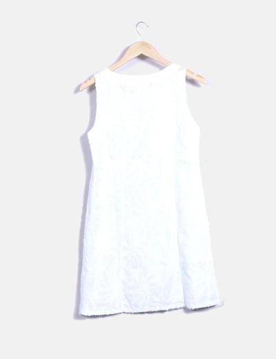 Vestido bordado blanco