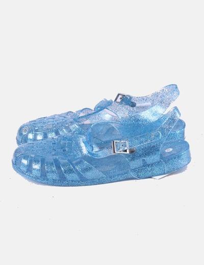 Cangrejera azul glitter
