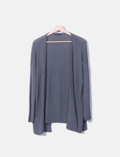 Jersey tricot gris oscuro