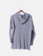 Sudadera tricot gris con capucha NoName