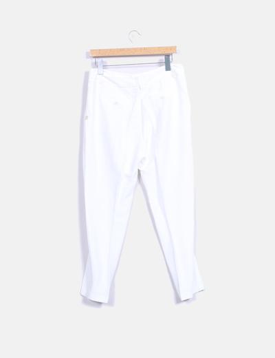 Pantalon recto blanco