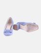 Zapato de tacón cuadrado azul Zara