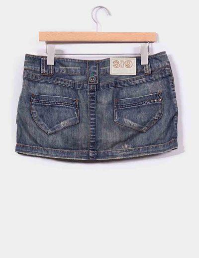 Mini jeans bolsillos