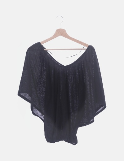 Camiseta negra con glitter