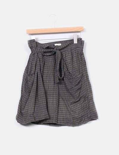 Falda de cuadros de lana