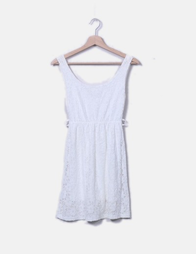 Vestido crochet blanco