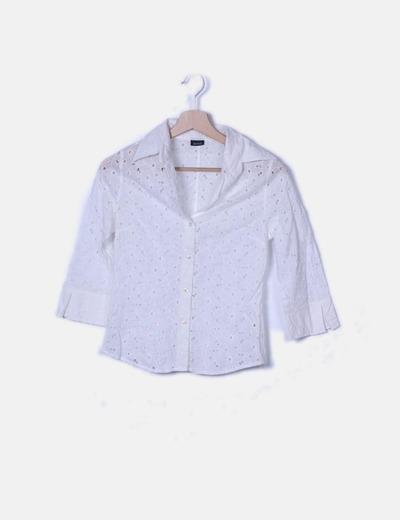 Camisa troquelada blanco