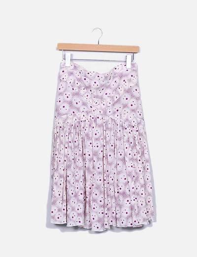 Falda midi estampada Iro