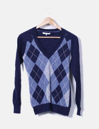 Studio Classics Suéter de rombos azul marino (descuento 76%) - Micolet 123ffd2504d8