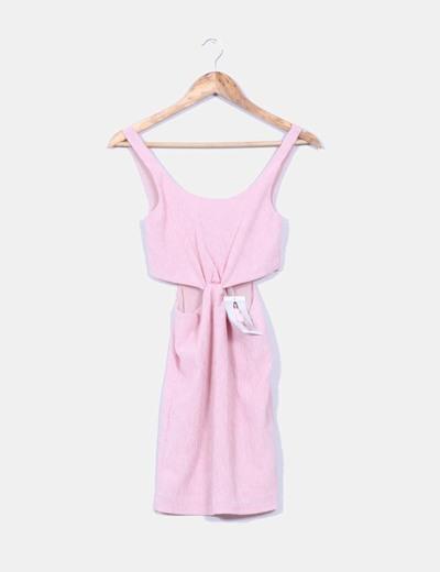 Para estrenar duradero en uso hacer un pedido Vestido rosa drapeado aberturas laterales