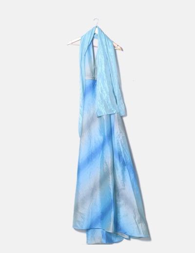 Maxi vestido degradado cuello halter