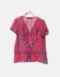 Camisa multicolor volante Zara