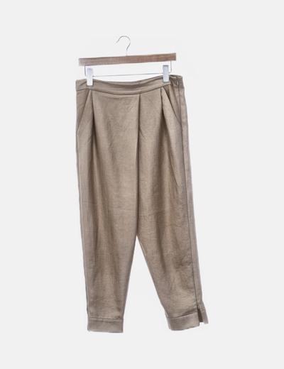 Pantalón baggy camel