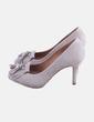 Zapato gris con flecos Uterqüe