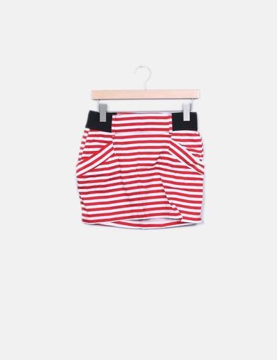Minifalda de rayas Bershka