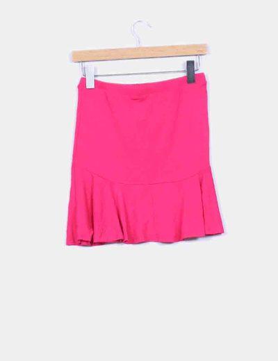 Falda de vuelo rosa