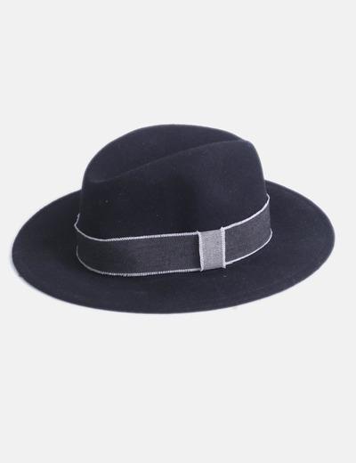 Sombrero negro tira denim