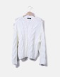 Jersey tricot blanco Bershka