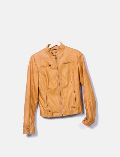 Orange biker jacket Millenium