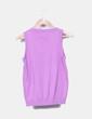 Chaleco tricot malva Zara
