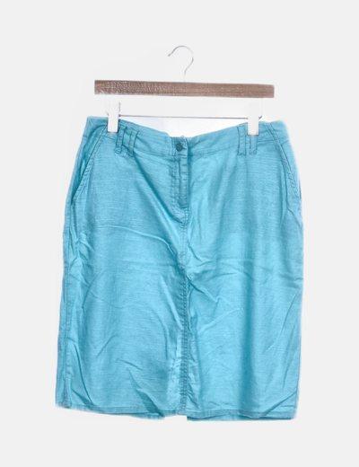 Falda midi azul celeste