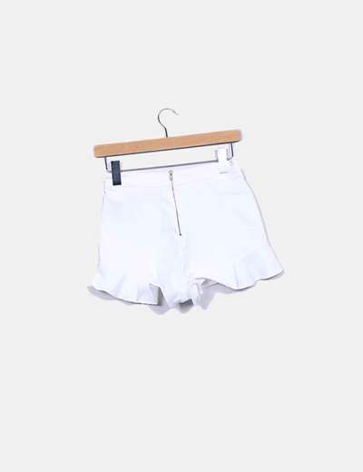 Shorts denim blanco volante