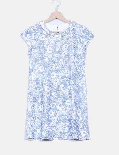 Vestido pichi tweed azul Zara Kids