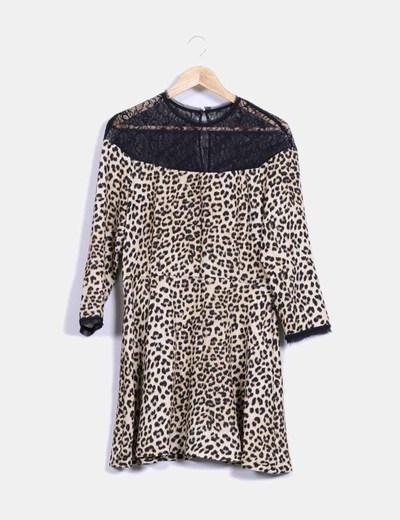 Vestido con estampado de leopardo Zara