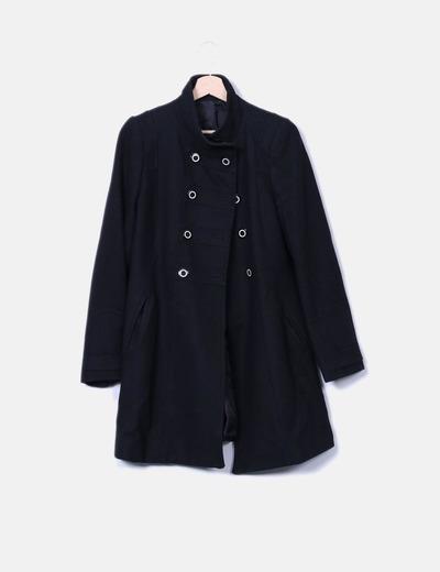 Abrigo negro doble botonadura El Corte Inglés