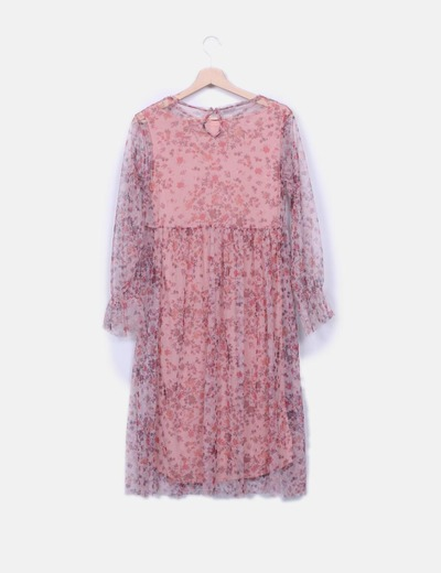 Tul 71 Floral Micolet Rosa Zara Vestido descuento ZagCCn