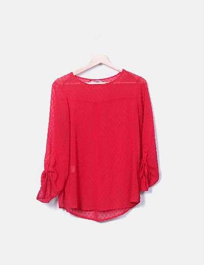 Blusa roja plumetti