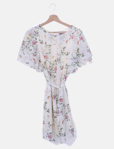 Vestido de gasa con prit floral