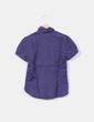 Camisa azul marino manga corta Amille