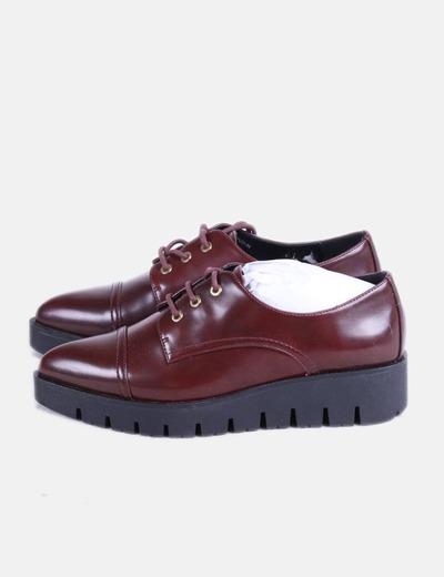 Seven de bordeau de semelles à couleur piste style Chaussures Sixty dYqB1Zad