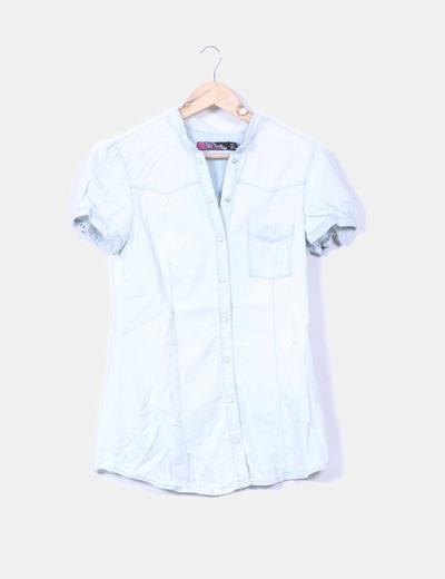 Blusa denim clara Zara