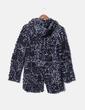Abrigo tricot bicolor con capucha NoName