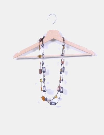 Conjunto de collares azul y marrón NoName