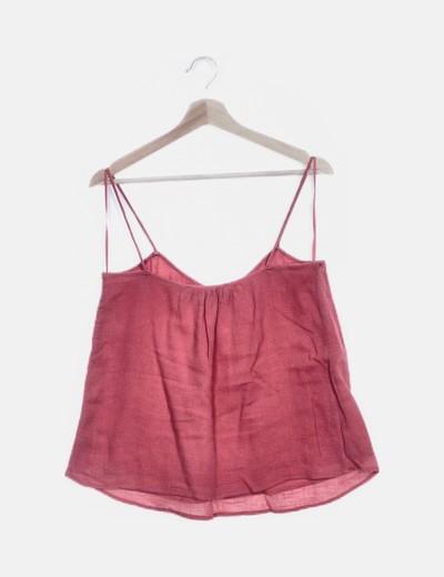 gran descuento para salida para la venta excepcional gama de estilos y colores Blusa tirantes rosa