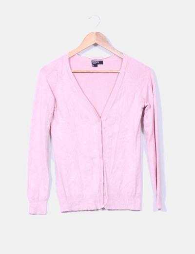 Chaqueta rosa palo abotonada Suiteblanco