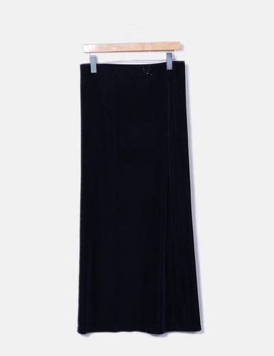 C A Falda larga azul terciopelo (descuento 81%) - Micolet 63bb06f650e7