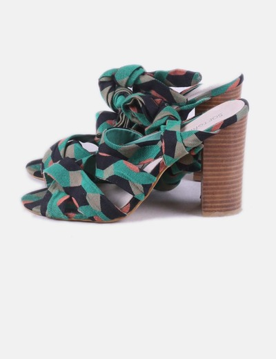 Sandalia destalonada lace up estampado