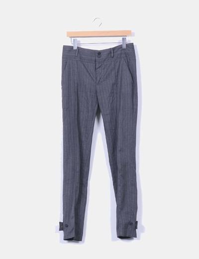 Pantalón gris de raya diplomática Zara