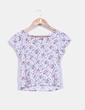 Camiseta con estampado floral y lace up en la parte trasera NoName