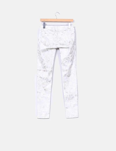 Jeans denim estampado dorado