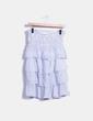Falda midi con volantes blanca con topos azules Suiteblanco