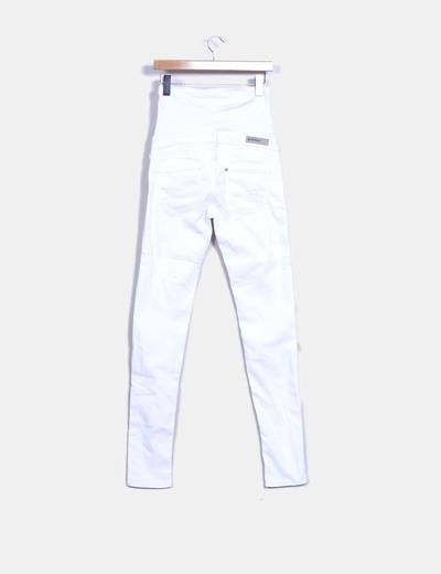 6f8776613 H M Pantalón blanco denim premamá (descuento 66%) - Micolet