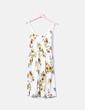 Vestido de tirantes blanco estampado girasoles NoName